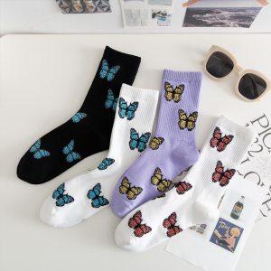 Chaussettes papillons - Harajuku
