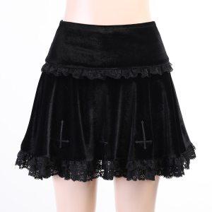 Jupe courte gothique - Reverse