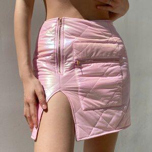 Jupe matelassé - Pink