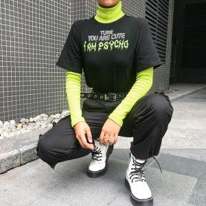 T-shirt fluo - Psycho