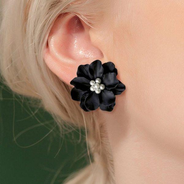 Boucle d'oreille grunge - Fleur