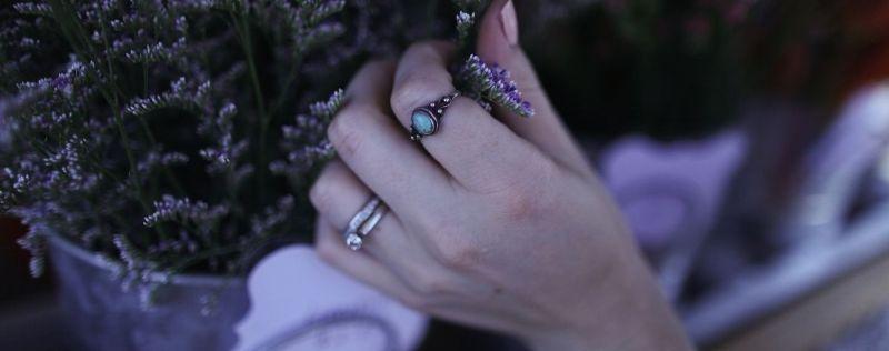 Bague de mariage gothique