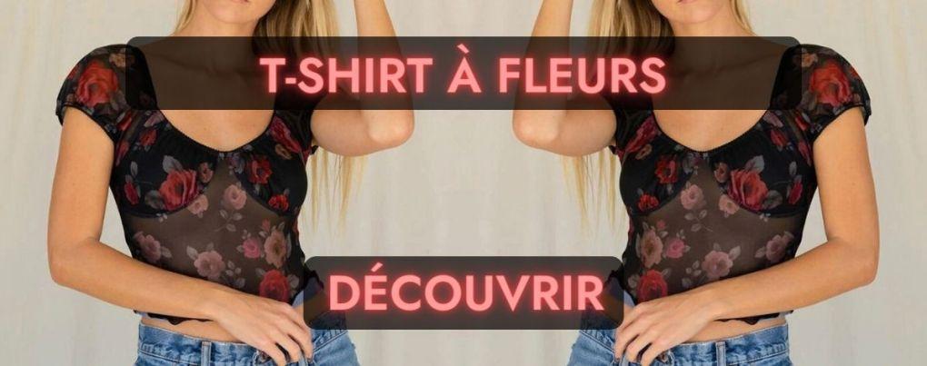 T-shirt vintage à fleurs