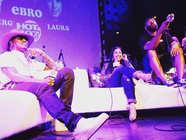 Future, Laura Stylez and Ebro (Hot 97)   Courtesy of Chantel J