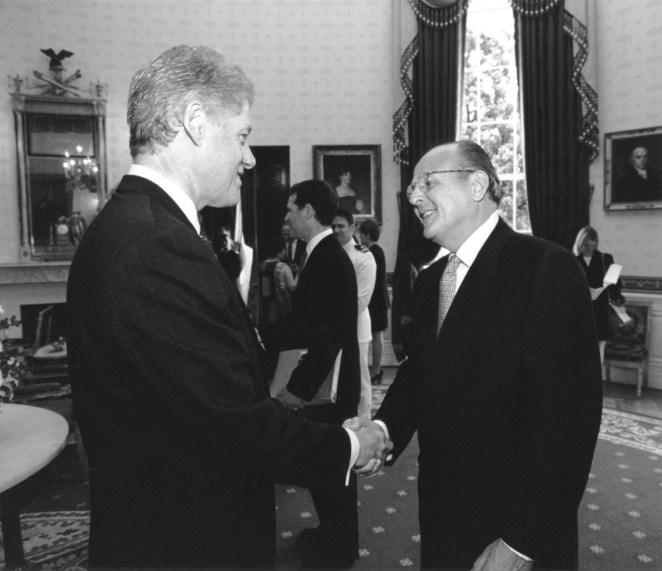 Peter Engel pictured with former President Bill Clinton