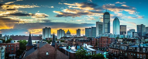 Boston skyline – something you can see often after moving to Worcester MA.