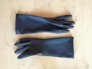 When cleaning out your attic, make sure you have rubber gloves