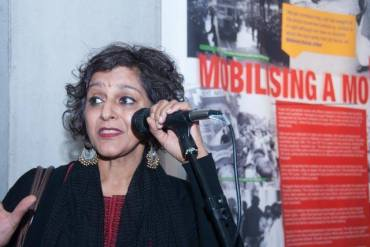 Meera Syal spoke of how the Grunwick strikers inspired Asian women who came after them © Pete Webster/Grunwick 40