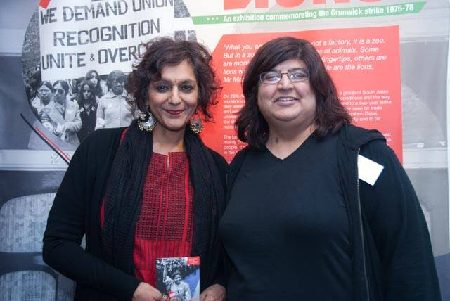 Meera Syal with Grunwick 40 chair Sujata Aurora ©Pete Webster/Grunwick 40