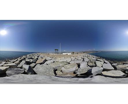 360 Puerto espigón Mataró miniatura