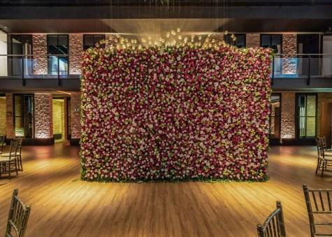 muro de flores