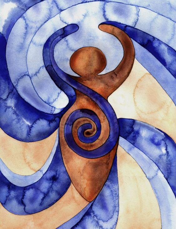 Mujer con espiral