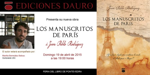 LOS MANUSCRITOS DE PARIS_invitacion FERIA DEL LIBRO
