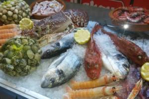 pescados frescos en restaurante la senia
