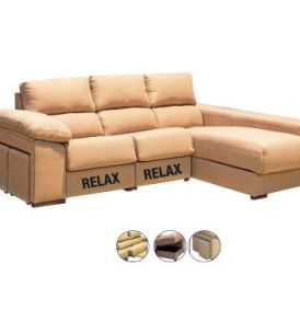Chaiselongue Everest Serie Bronce con 2 Relax