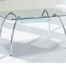 Mesa comedor 150 x 90 Cristal Cromo