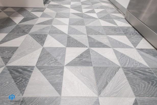 suelo gris de cocina