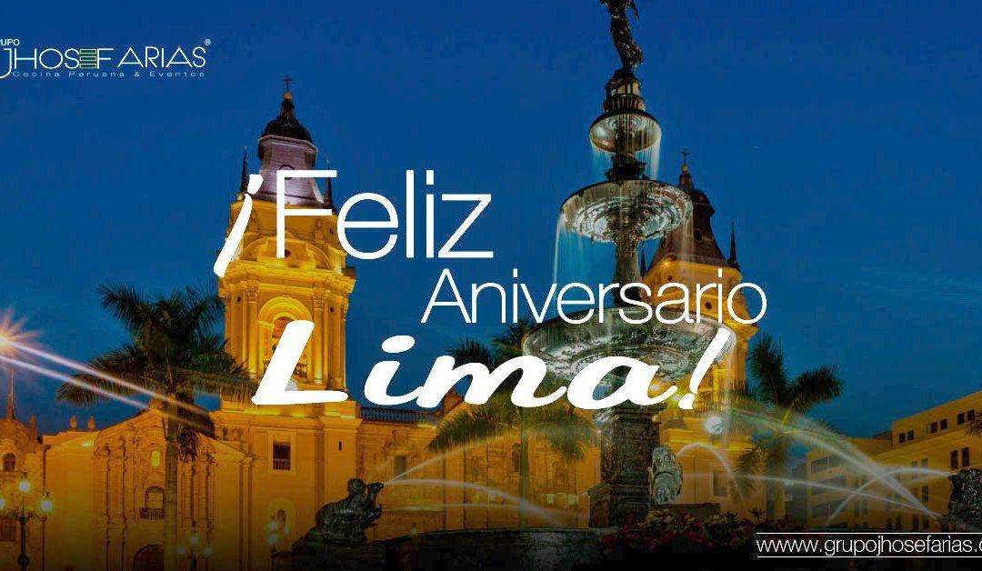 Feliz Aniversario de la Ciudad de Lima