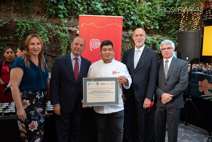 Jhosef Arias Embajador de la Gastronomía Iberoamericana