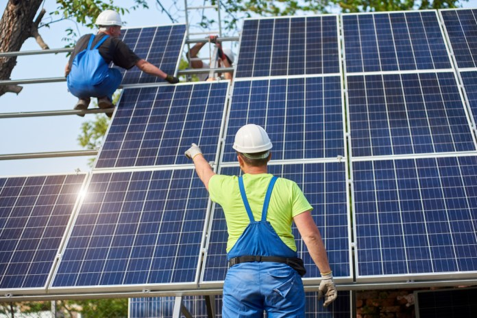 Sustainable industries: solar panels for the use of solar energy