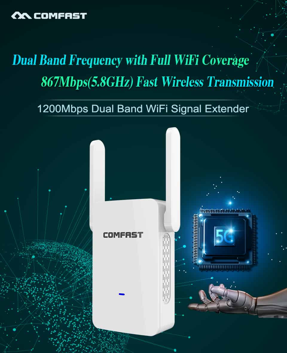 Comfast CF-WR753AC dual band