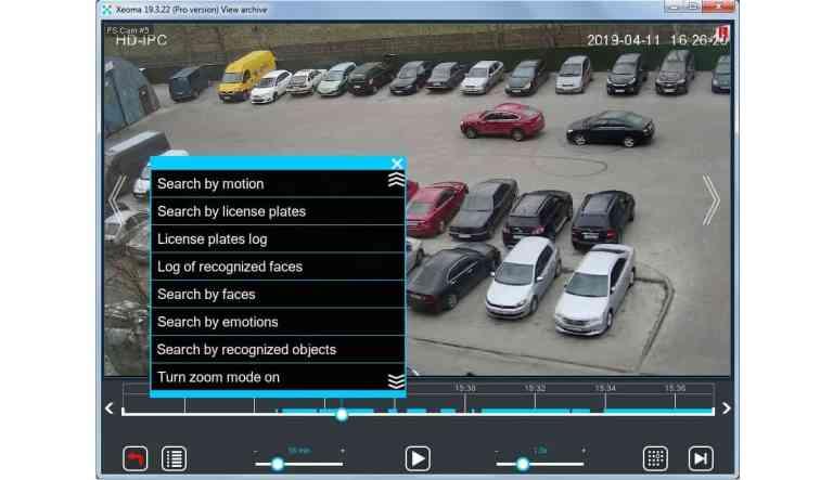 [Grabar  ] En las grabaciones de archivo se pueden buscar objetos, caras, eventos de movimiento, placas, emociones, etc.