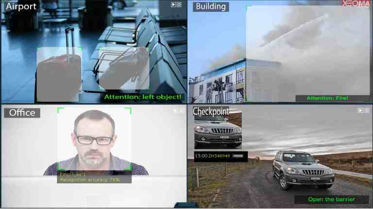 [Módulos intelectuales  ] Análisis de video avanzado: Reconocimiento de placa frontal o de matrícula, Detección de humo u objetos abandonados.