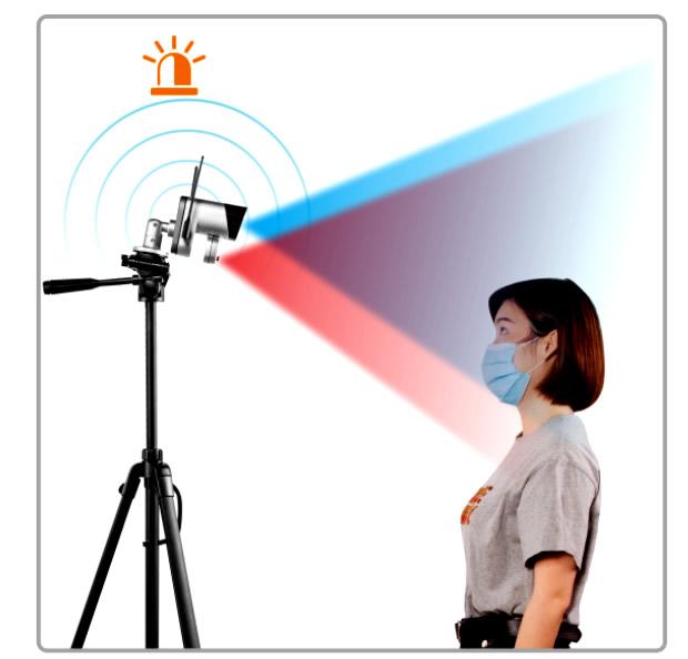 Y3-TB01 Camara con Sensor de temperatura corporal sin contacto solución completa de prevención de epidemias