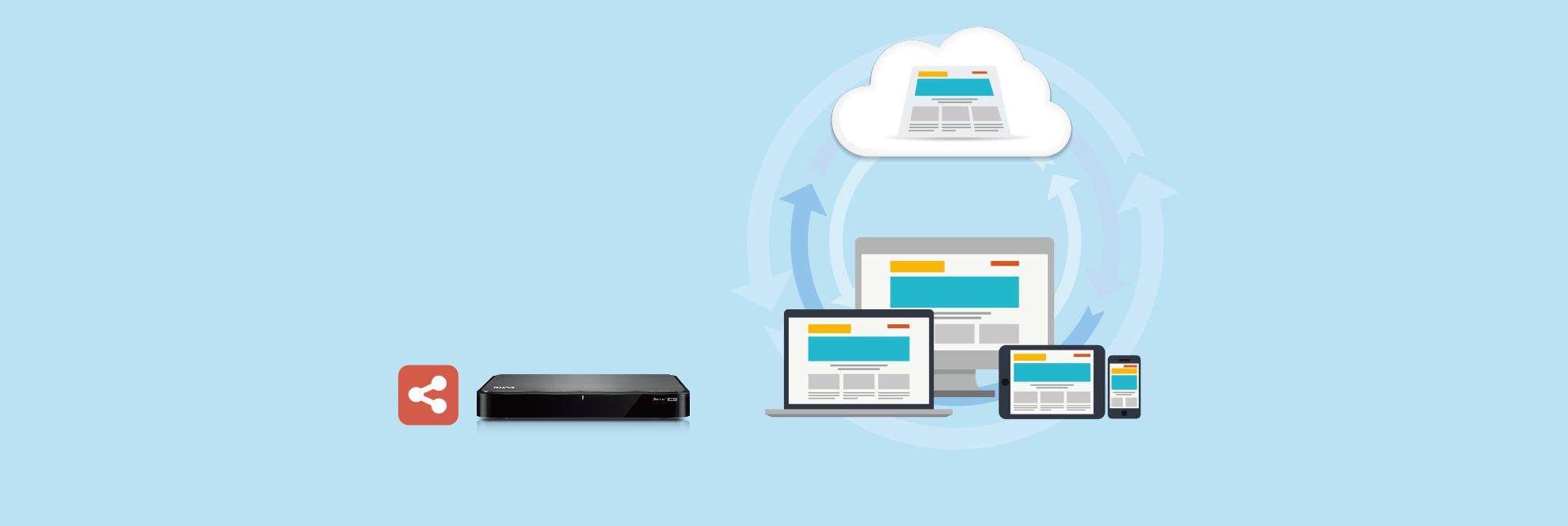 Uso compartido sencillo Cuando desee compartir medios o archivos desde el Turbo ÑAS, no es necesario utilizar cables USB o tarjetas SD ni incluso estar en el mismo lugar. Comparta y sincronice fácilmente los archivos independientemente de dónde se encuentre, a dónde vaya y en cualquier dispositivo que desee.