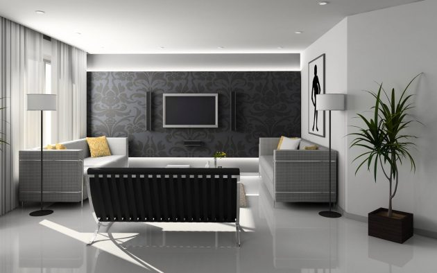 Aspectos minimalistas de la sala de estar para una vida sin estrés