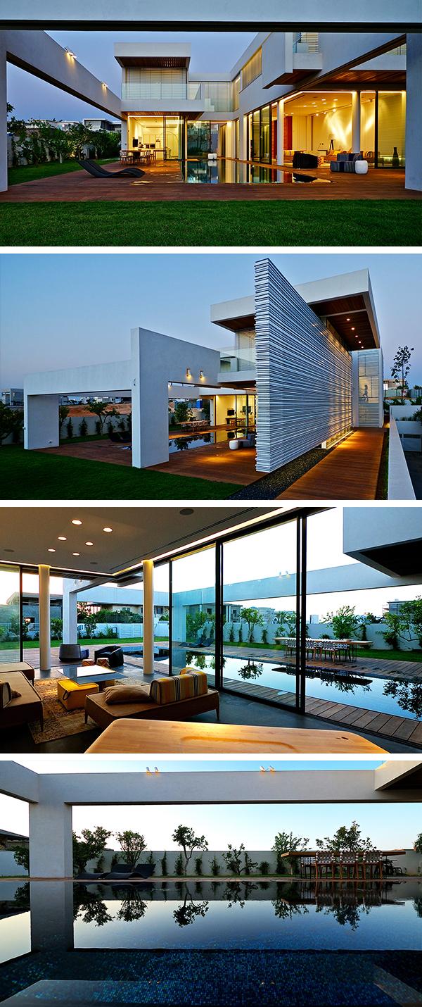 Villa C por Gal Marom Architects en Cesarea, Israel