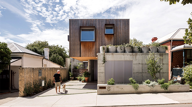 Silver Street House por EHDO en South Fremantle, Australia