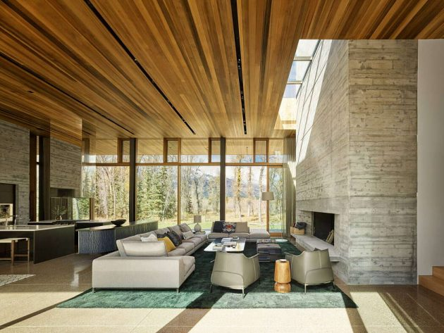 Residencia Riverbend por Carney Logan Burke Architects en Jackson, Wyoming