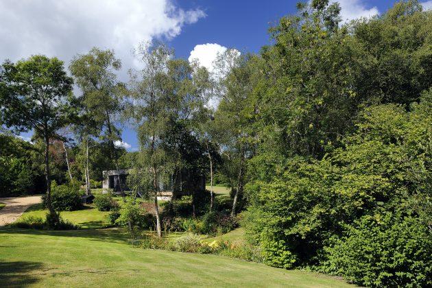 Forest Lodge por PAD Studio en Hampshire, Inglaterra