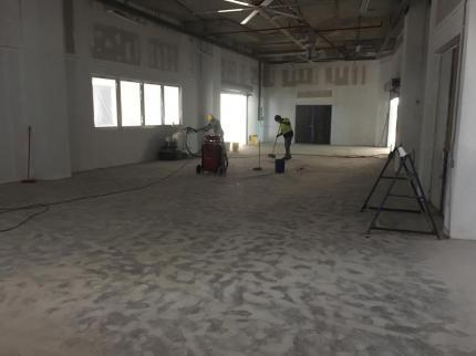 Desbaste de piso luego de resanar