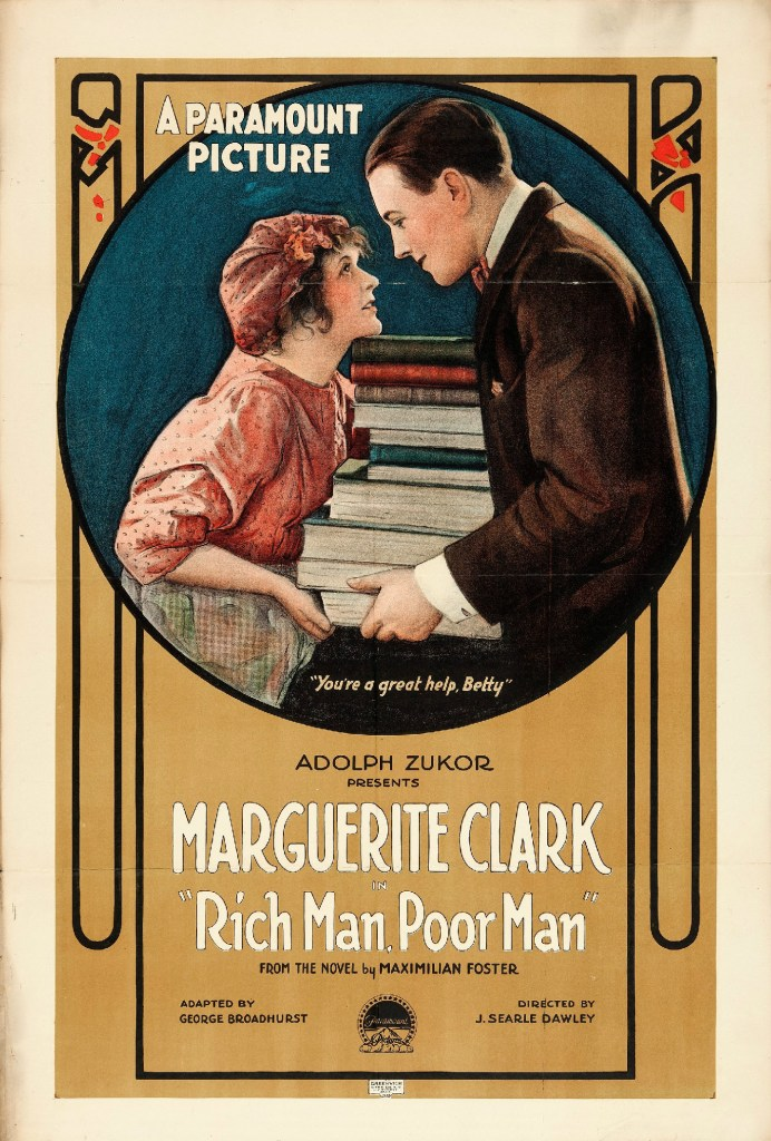Poster for the 1918 film Rich Man, Poor Man.