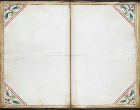 Title 	Cornaro Atlas Description 	  A blank sheet prepared for mapping and ornamented as the other charts. Author 	Unknown British Library Shelfmark 	Egerton MS 73, f.34r Date 	1492