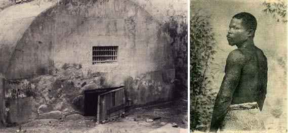 Imagen de Louis-Auguste Cyparis y de la celda en la que estaba recluido