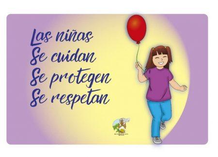 Imagen de la campaña de la Red de Mujeres del Norte Ana Lucila para prevención de violencia en niñas de comunidades rurales.