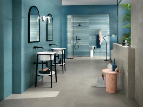 resin effect bathroom wall tiles