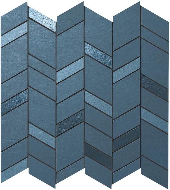 mek blue mosaico chevron wall wall