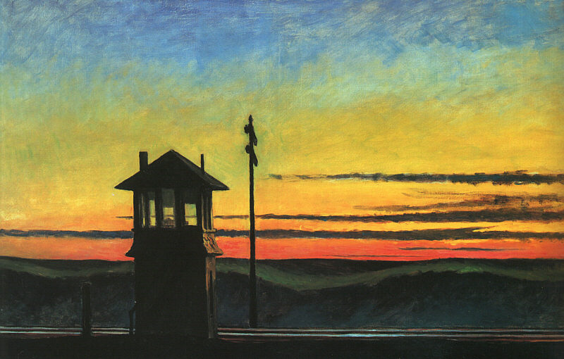 Railoroad Sunset, Edward Hopper