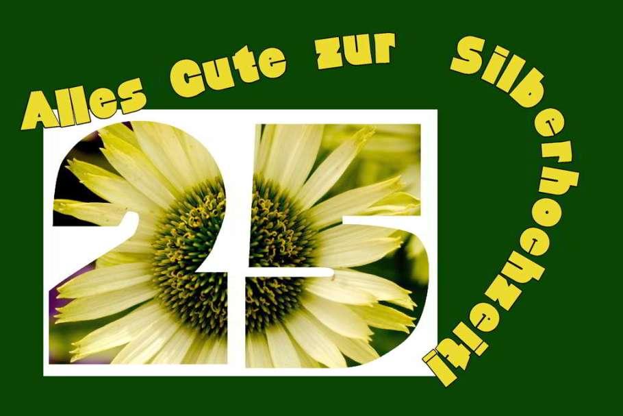 25-hochzeit-silberne-hochzeit-sonnenblume