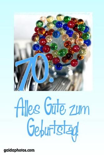 70. Geburtstag: Geburtstagskarten, Einladung und Danksagungskarten