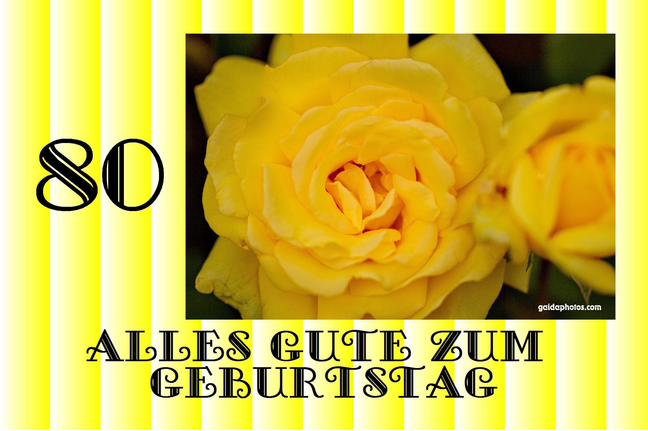 80 Geburtstag Glückwünsche Einladungen Dankeskarten