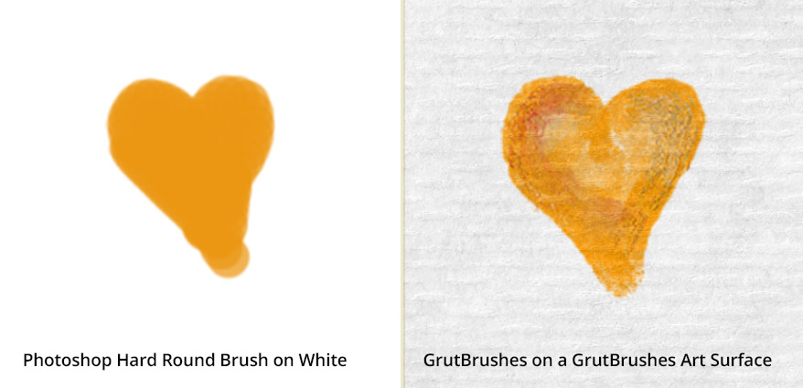 Look how realistic your brush strokes appear in a GrutBrushes smArt Surface