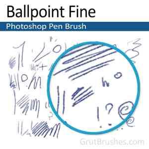 'Ballpoint Fine' Photoshop Ink brush ballpoint Photoshop pen