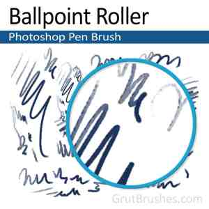 'Ballpoint Roller' Photoshop Ink brush ballpoint Photoshop pen