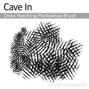 'Cave In' Photoshop Cross Hatching Brush