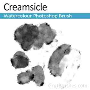 'Creamsicle' Photoshop watercolor brush for digital painting
